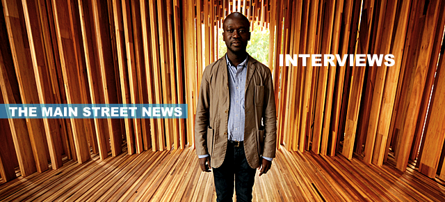 THE MAIN STREET NEWS INTERVIEWS  DAVID ADJAYE